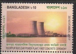 BANGLADESH , 2018, MNH , NUCLEAR ENERGY, ROOPPUR NUCLEAR POWER PLANT,1v - Sciences