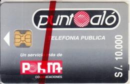 ECUADOR - Punto Alo, Porta Telecard, First Issue S/. 10000, Mint - Ecuador
