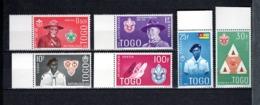 TOGO N° 334 à 339   NEUFS SANS CHARNIERE COTE  6.00€  SCOUT  SCOUTISME BADEN POWELL - Togo (1960-...)