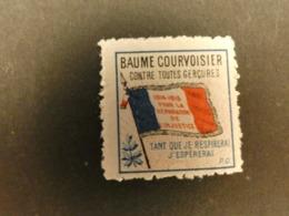 France Vignette Patriotique Publicitaire Baume Courvoisier Guerre 14-18  Type Delandre - Erinnofilia