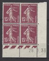 CD 189 FRANCE 1933 COIN DATE 189 : 28 / 1 / 33  SEMEUSE A FOND PLEIN - Angoli Datati