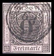 1851, Altdeutschland Baden, 4 B, Gest. - Baden