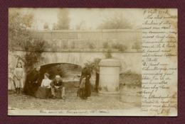 """VOUECOURT  (52) : """" LE PONT """"  Carte Photo 1903 - Autres Communes"""