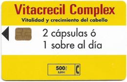 Spain - Telefónica - Vitacrecil Complex - P-464 - 03.2001, 500PTA, 13.800ex, Used - España