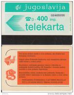 YUGOSLAVIA(Autelca) - Telecom Logo 400 Units(muflon Radece), CN : 8 Digits, Tirage 30000, Used - Joegoslavië