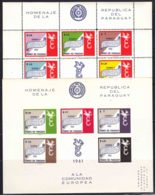 Paraguay 1961 Europa Mi#Block 14 And 16 Perforated And Imperforated, Mint Never Hinged - Paraguay