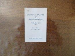 ERECTION DU CALVAIRE DE BERGUES SUR SAMBRE 18 OCTOBRE 1931 PAR LA CROIX,LE SALUT..... - Images Religieuses