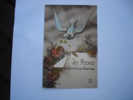 CPA FANTAISIE - SART DAME AVELINES ( VILLERS LA VILLE CHASTRE COURT SAINT ETIENNE ) - UNE PENSEE ( PIGEON COLOMBE ) - Villers-la-Ville