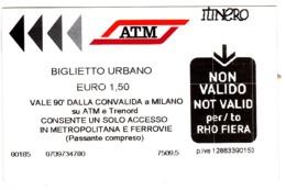 2019, Italy , Milano   , Metro  Ticket  , Biglietto Urbano , Used - Subway