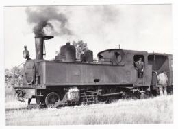 CPM VOIR DOS 80 Train Locomotive Vapeur 130 T 3853 Et Ses Mécaniciens Manoeuvrant à St Valéry Canal En 1955 - Saint Valery Sur Somme