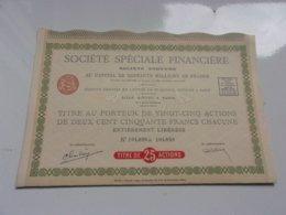 SOCIETE SPECIALE FINANCIERE (imprimerie RICHARD) - Actions & Titres