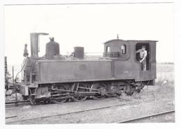 CPM VOIR DOS 80 Train Locomotive Vapeur 031 T 3561 Et Son Mécanicien à St Valéry Canal En 1955 - Saint Valery Sur Somme