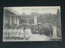 MONTIGNY SUR LOING / ARDT Fontainebleau  1914 /   VUE   FETE SCOLAIRE / INAUGURATION   ....  EDITEUR - France