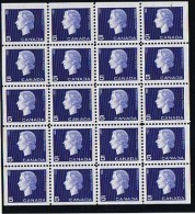 Queen Elizabeth II Cameo Issue 5¢ Mini Pane Of 20  Unitrade  405b  ** MNH - 1952-.... Règne D'Elizabeth II