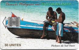 Madagascar - Telecom Malagasy - Fishermen - 50Units, SC7, 200.000ex, Used - Madagascar