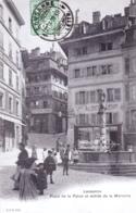 Suisse - Vaud - LAUSANNE - Place De La Palud Et Entrée De La Mercerie - VD Vaud