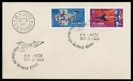 1965, Vietnam Nord Und Republik, 359-60 U, FDC - Vietnam
