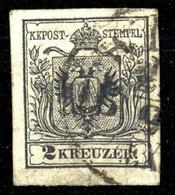 1850, Österreich, 2 Y, Gest. - Mechanische Stempel