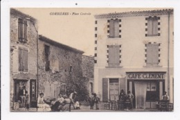 CP 04 CORBIERES Place Centrale - Francia