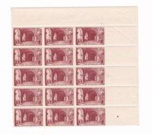 15  Timbres N°661 ++  Sur Morceau De  Feuille Basilique De Saint-Denis - France