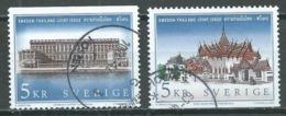 Suède YT N°2294/2295 Palais Royaux (Emission Commune Suède-Thailande) Oblitéré ° - Suède