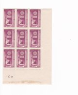 9 Timbres  N° 664  ++ Cathédrales Chartes  Année 1944 - France