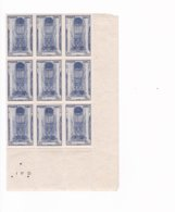 9 Timbres  N° 667  ++ Cathédrale Beauvais  Année 1944 - France