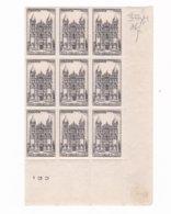 9 Timbres  N° 663  ++ Cathédrale Angoulême   Année 1944 - France