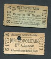 Ensemble Ticket De Métro Et Son Carnet (vide) 1906 Paris (Station Porte D'Orléans) 2ème Cl - Métropolitain - RATP - Métro