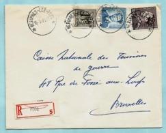 Relais/sterstempel HERINNES-LEZ-PECQ 16/03/1971 Op Aanget. Zending + N° 1069B + 848A - Cachets à étoiles
