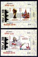 2018 Banhgladesh - Football World Cup Russia / Praga 2018 - Set Of 2 Numbered MS - MNH** (rg) - Bangladesch