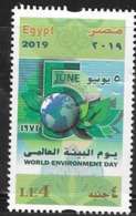 EGYPT, 2019, MNH, WORLD ENVIRONMENT DAY,1v - Environment & Climate Protection