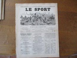 LE SPORT DU 28 JUIN 1890VENTES DE PRODUITS DE PUR SANG,LE SECOND DU PRIX DU JOCKEY-CLUB LA SECONDE DU PRIX DE DIANE,DESS - Sports