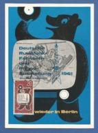 Berlin 1961 Mi.Nr. 217, Deutsche Rundfunk-Fernseh + Phono Auste - Maximum Card - S Stempel Berlin-Charlottenburg 28.8.61 - [5] Berlijn