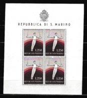 1954 San Marino Saint Marin GINNASTA  GYMNAST Foglietto MNH** Souv.Sheet - Blocchi & Foglietti