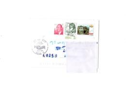 Paquebot France  Correspondance Espagne Avec Cachet + Erreur D'adresse - Boats