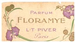PARFUM  FLORAMYE  L.T. PIVER  PARIS  -SALON DE COIFFURE PARFUMERIE J. DUC BD MAGENTA  PARIS 10 - Mappe