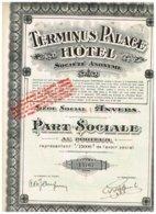 Titre Ancien - Terminus Palace Hôtel - Société Anonyme - Titre De 1928 N° 14767 - Toerisme