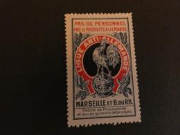 France Vignette Ligue Anti Allemande Marseille Et Bouches Du Rhone  Guerre 14-18  Type Delandre - Vignettes Militaires