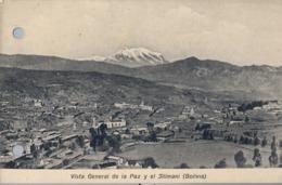 BOLIVIA , TARJETA POSTAL NO CIRCULADA ,  VISTA GENERAL DE LA PAZ Y EL ILLIMANI - Bolivia