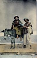 1919 BOLIVIA , TARJETA POSTAL CIRCULADA , INDIOS DE LA PAZ - Bolivia