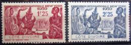 COTE D'IVOIRE                   N° 144/145                     NEUF* - Unused Stamps