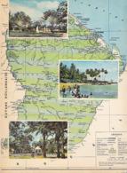 """En Guyane  """" Reproduction De Carte Publiée Par L' I.G.N. """"  - Dentelée - Guyane"""