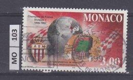 MONACO   1997Calcio, 3,00 Usato - Gebraucht