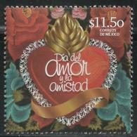 2016 MÉXICO   DÍA  DEL AMOR Y LA AMISTAD MNH,  DAY OF LOVE AND FRIENDSHIP - Heart Flowers - Mexico