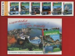 *214*  AU FIL DE LA NORMANDIE MAGAZINE -  DUO  MARQUE PAGE + CARTE - Marque-Pages