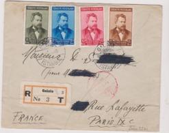 GALATA ( Turkey ) Recommandé    1917  ( Registered Letter ) For Paris - Lettres & Documents