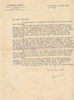 GENERAL GOURAUD ( Dardanelles Syrie Liban ) - Signature AUTOGRAPHE Sur Lettre à En-tête De 1929 - Documenti