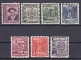 Spanish Andorra 1948 Mi#44-50 Mint Never Hinged - Andorra Española