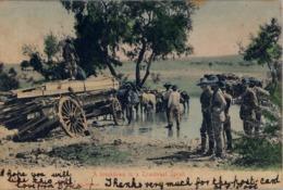 1906 SUDAFRICA , TARJETA POSTAL  CIRCULADA , PIETERMARITZBURG - NATAL , A BREAKDOWN IN A TRANSVAAL SPRUIT - Postales
